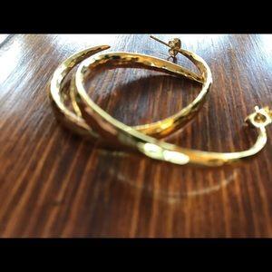 Gorjana gold plated hoops!!